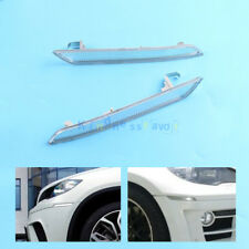 x2 Set Right +Left Front Bumper Reflector For BMW X6 E71 X5M 2008-2013