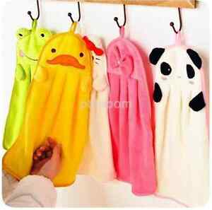 Baby Children Kids Hand Towel Soft Plush Cartoon Hanging Wipe Bathing Panda