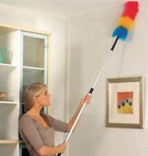 Extra Long Extending Telescopic Bendable Feather Duster Dust Genie Cleaner Top