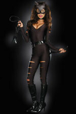 Sexy Halloween Costume Leather Jumpsuit Wild Leopard Cat Catsuit Fancy Cosplay 3