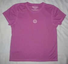 LIFE IS GOOD LIG Tech Purple Wick Away Athletic SS Shirt Top Womens L Large