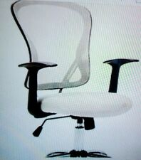 New listing Office Home Computer Lumbar Support Wheels Mesh Adjustable Swivel Chair White