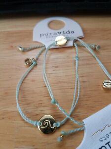 NEW🌊Pura vida bracelets WAVE COIN GOLD