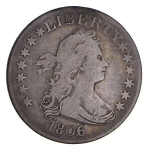 1806 - 6 over 5 - Draped Bust Quarter - Circulated *9733