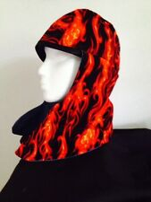 /a WELDING CAP**WITH NECK WRAP red  flames/