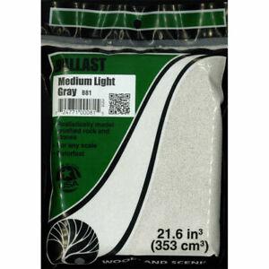 Woodland Scenics ~ New 2020 ~ Light Gray Medium Ballast ~ Any Scale ~ B81