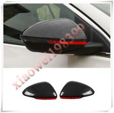 2pcs ABS Carbon Sideview Mirror Cover Trim w/ red edge For Buick Regal 2017-2020