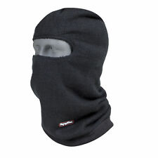 RefrigiWear Fleece Lined Double Layer Open Hole Balaclava Full Face Mask, Black