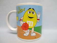 M & M Sports Mug ~ Green Baseball and Yellow Basketball  ~ by Galerie  ~ 2002