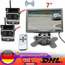 "Für Bus-LKW Rückfahrkamera Set 7"" TFT Funk LCD Wireless Monitor mit 2 Kameras"