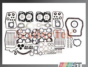 Fit 04-09 Subaru 2.5L EJ25 SOHC Engine Full Gasket Set + Cylinder Head Bolts Kit