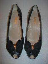 Chaussures Bally France, escarpins  bleu marine, vintage (années 80) taille 38