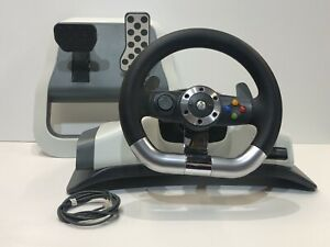 Microsoft Xbox 360 (WRW01) Racing Wheel With Force Feedback and Pedals Steering