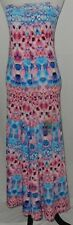 Women's Strapless Maxi Dress Sz S Multi Color Tie Dye Floral Good Time