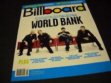U2 2009 Billboard Cover PROMO DISPLAY AD  World Bank no mailing label MINT