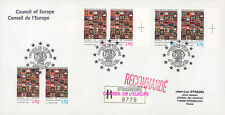 """Registered FDC Council of Europe """"1st Day Service Stamps Hundertwasser"""" 01-1994"""