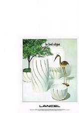 PUBLICITE  1978   LANCEL   décoration vase lampes pots