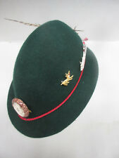"""small felt hat for a boy or girl  green Vintage 5 Stickers Feather  """"LOVELY"""""""