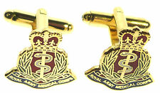 RAMC ROYAL ARMY MEDICAL CORPS CLASSIC HAND MADE GOLD PLATED CUFFLINKS (R)