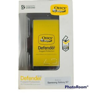 NIB OTTERBOX Defender Series Rugged Protection for Samsung Galaxy S7 Black Clip