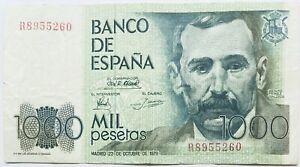 BANCO DE ESPAÑA 1000 pts PESETAS (SPANISH PESETA-PRE EURO BANKNOTE) SPAIN 1979