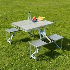 Trail Aluminium Picnic Table Portable Pliant Lot de chaises de camping Outdoor BBQ