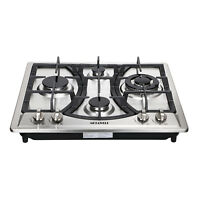 23inch Built-in 4 Burners Gas Cooktop Stainless Steel NG LPG Gas Hob Cooker