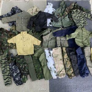 Random 15pcs 1:6 WWII Jacket Pants Trousers For 12'' Gi Joe Dragon BBI DID Toys