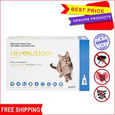 Revolution for Cats Flea Heartworm treatment 2.6 - 7.5 Kg Blue pack 3 Pipettes