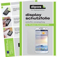 2x dipos Huawei Ascend G730 matte Displayschutzfolie Antireflex Testsieger
