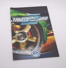 Need for speed  underground 2   manual de instrucciones ps2 playstation 2