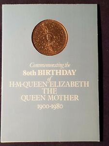 Royal Mint Commemorative Queen Mother 80th Birthday Crown sealed in folder