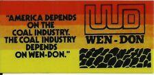 Wen-Don Coal Vintage Unused Mining Hard Hat Decal Sticker