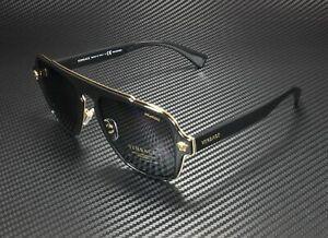 VERSACE VE2199 100281 Black Polarized Grey 56 mm Men's Sunglasses