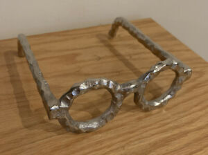 Z Gallerie Metal Eye Glasses Sculpture Art CoffeeTable Decor Metal Silver