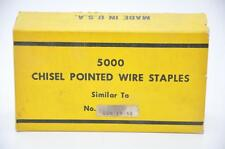 """Paslode GSN18 5/8"""" Chisel Point Staple, Galv., 1 Case of 10 Boxes (Made by Zeb)"""