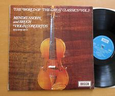 SPA 88 Ruggiero Ricci Mendelssohn Bruch Violin Concertos Decca Stereo LP