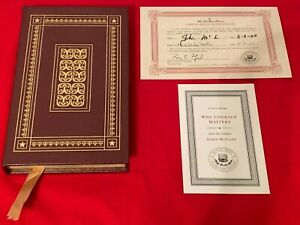 2004 Easton Press Signed First Edition WHY COURAGE MATTERS by JOHN McCAIN COA