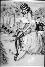 "BILL WARD Eroitc Art  4"" X 6"" NUDE / RISQUE PHOTO PRINT #B37"