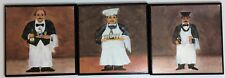 Set of 3 Chipboard Kitchen Home Cafe Decor Sign Plaques Chef