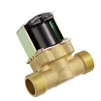 "Solid 1/2"" Brass Electric Solenoid Valve DC 12V VITON Valve Water Air Fuel NPSM"