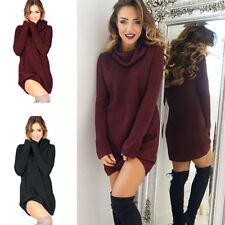 femme hiver manches longues en vrac tricoté automne pull haut robe