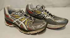 MENS ASICS GEL NIMBUS 13 RUNNING SHOES SIZE US 9.5 Silver White Yellow