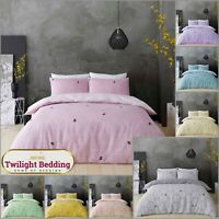 BE HAPPY DUVET COVER PILLOW CASE Honeycomb Bedding Set Ultra Soft Quilt Covers