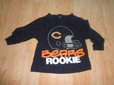 """Infant/Baby Chicago Bears 0/3 Mo LS T-Shirt Tee """"Bears Rookie"""""""