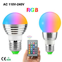 E27 E14 GU10 RGB LED Bulb Lamp Light Dimmable 16 Color Changing + Remote Control