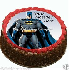 Batman personalized decoration  Cake topper edible image icing  REAL FONDANT