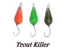 3 spoon trota laghetto light spinning trout game artificiali ondulanti