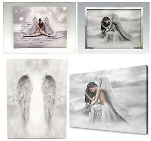 Angel Wings & Glitter Angel Canvas Wall Art Home Decoration Hanging Pictures New