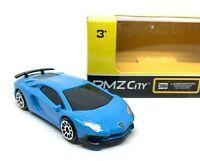 "Lamborghini Aventador SV Coupe Blue Diecast 1/64 (2.5"") RMZ City"